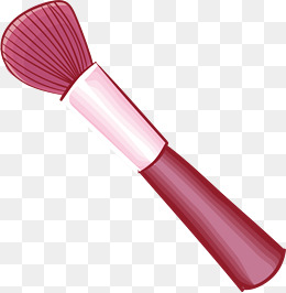 Blush pink splash collision. Beauty clipart makeup brush