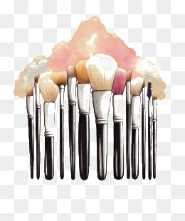 Beauty clipart makeup brush. Png images vectors and