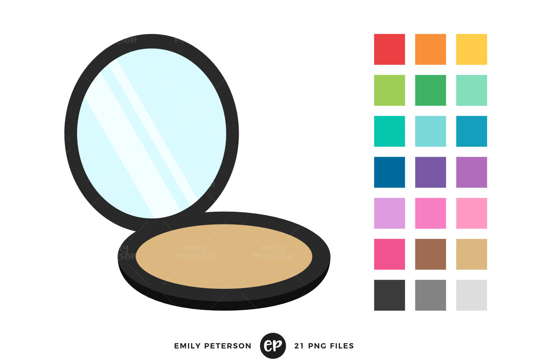 Beauty clipart mirror. Compact clip art makeup
