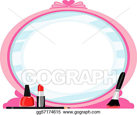 Drawing gg gograph. Beauty clipart mirror