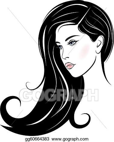 Vector stock beautiful woman. Beauty clipart portrait