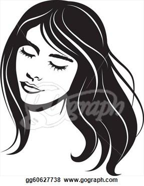 clip vector portraits. Beauty clipart portrait
