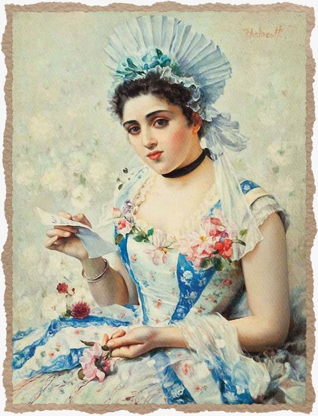 Aristocratic lady png image. Beauty clipart portrait