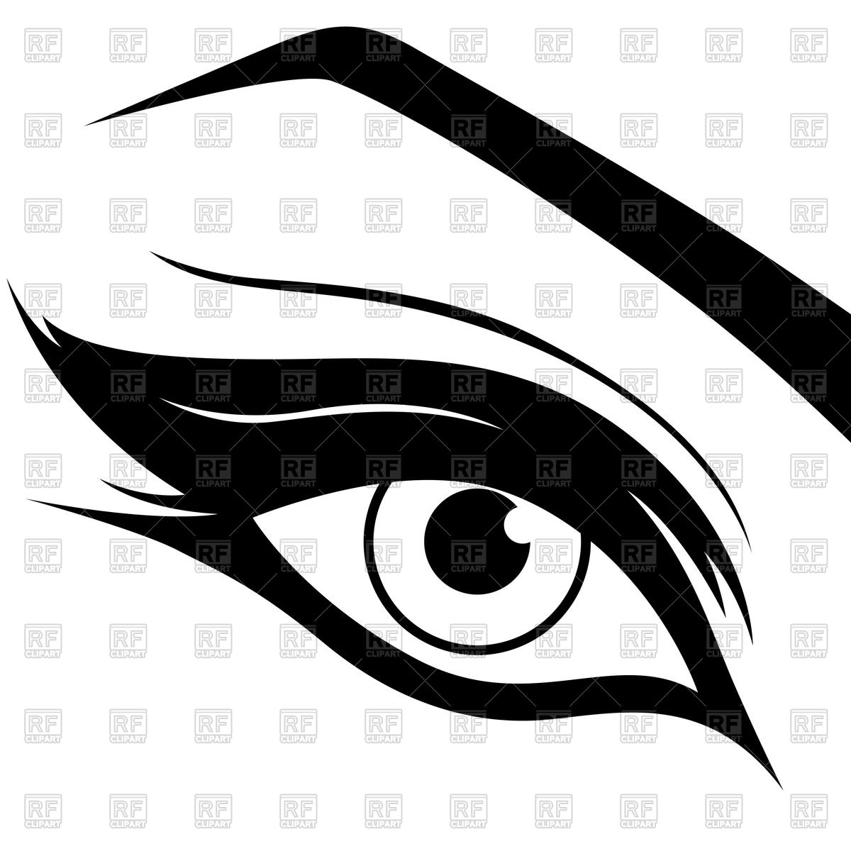 Beauty clipart pretty eye. Silhouette eyes at getdrawings