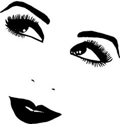 Beauty clipart pretty eye. Sexy digital witch pinup