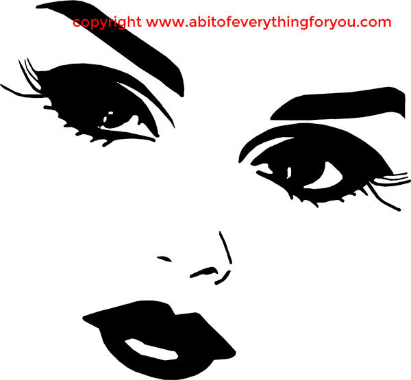 Beauty clipart pretty eye. Lady eyes and lips