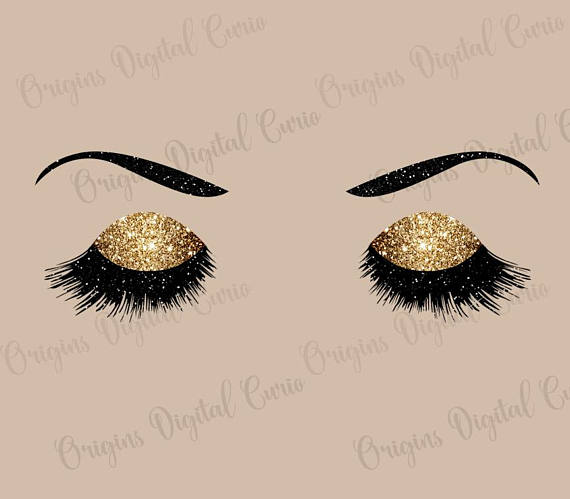 Luxury eyes princess makeup. Beauty clipart pretty eye