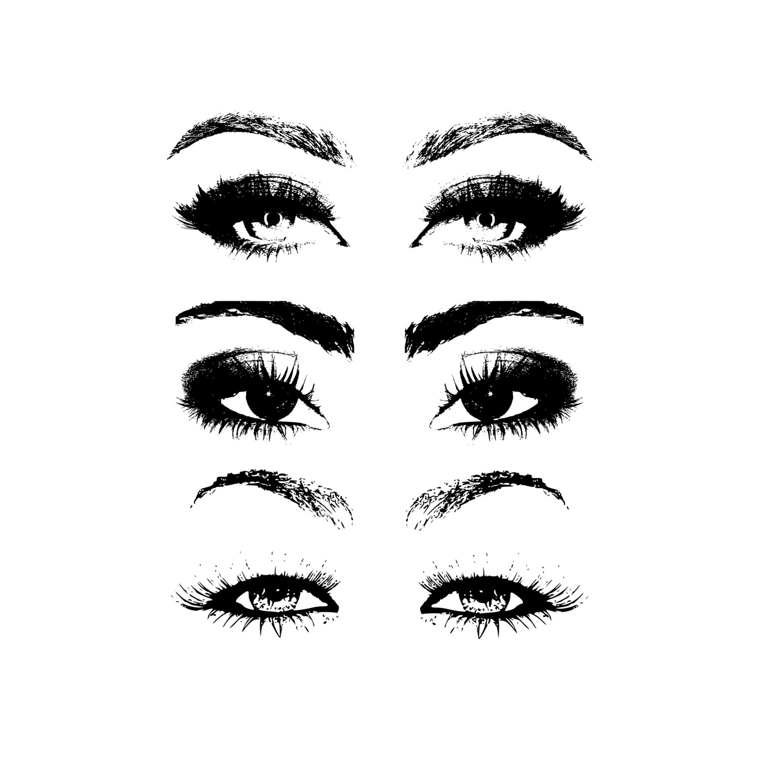 Beauty clipart pretty eye. Stamp clip art eyes