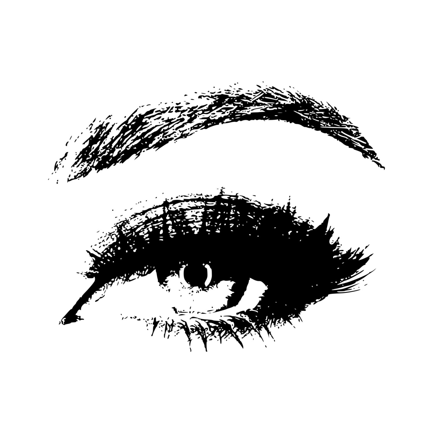 Stamp clip art eyes. Beauty clipart pretty eye