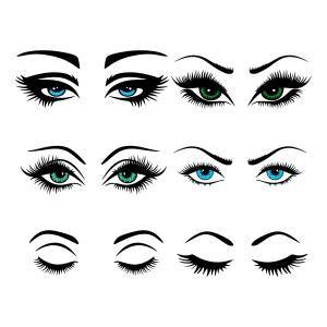 Eye lashes cuttable designs. Eyelashes clipart svg