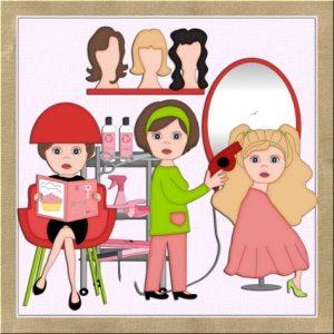 Parlor best hair salon. Beauty clipart saloon