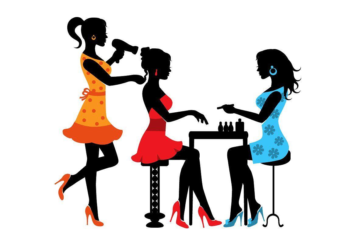 Beauty clipart saloon. Woman in a salon