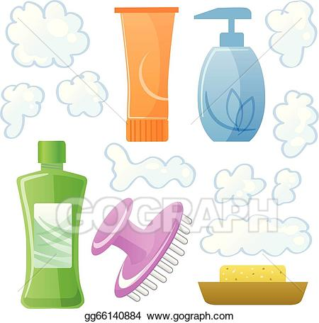 Beauty clipart shampoo. Vector stock bottles of