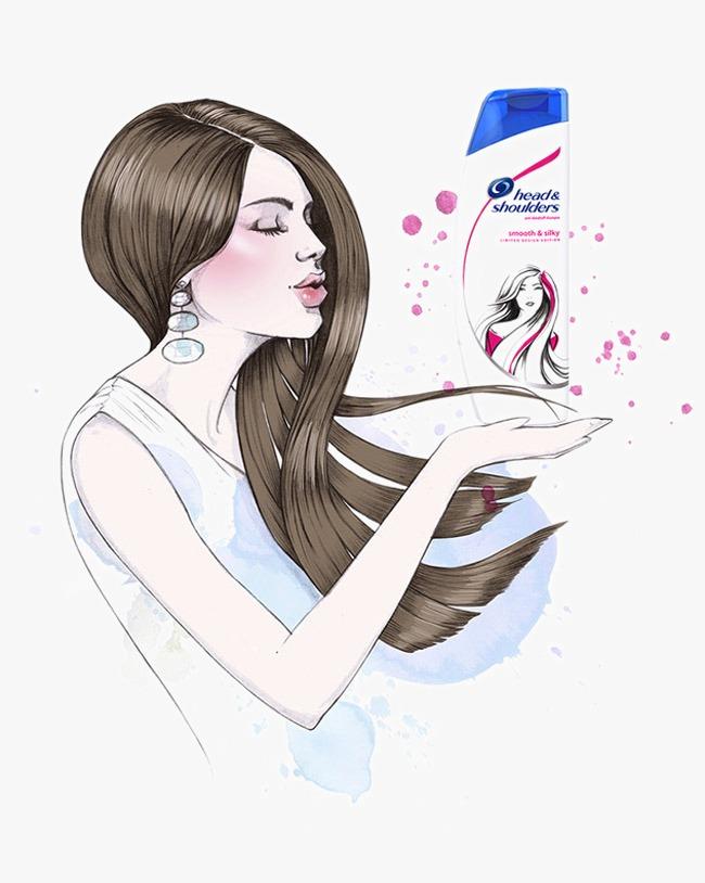 Beauty clipart shampoo. Illustration ad decorative small