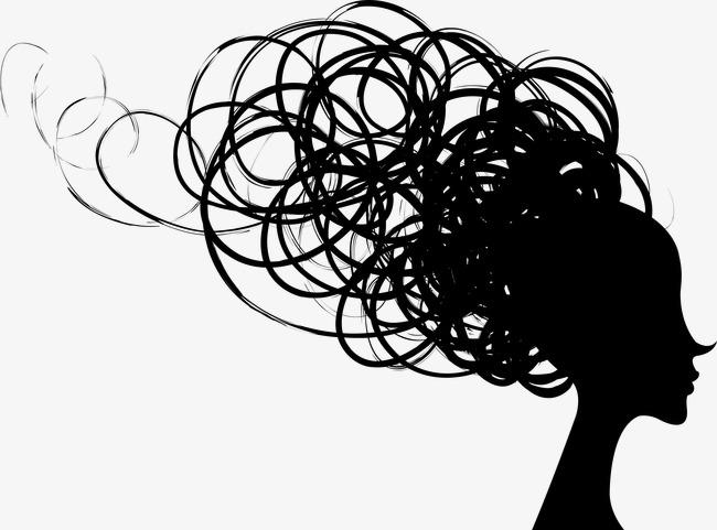 Creative silhouette hair products. Beauty clipart shampoo
