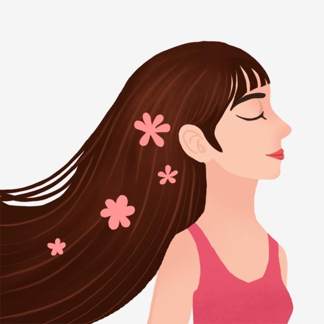 Beautiful hair supple creatives. Beauty clipart shampoo