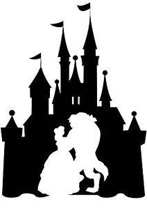 Disneyland castle panda free. Beauty clipart silhouette