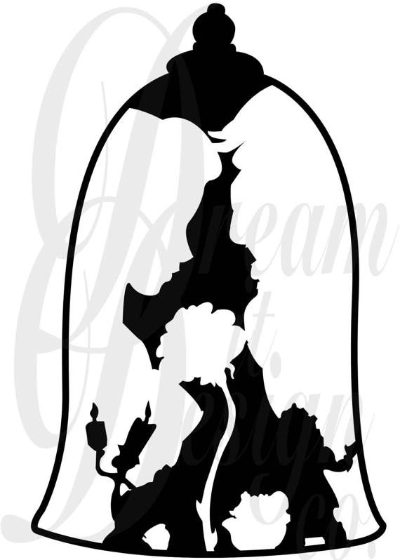 Disney art at getdrawings. Beauty clipart silhouette