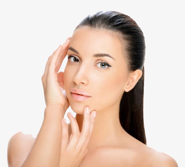 Beautiful models care make. Beauty clipart skin