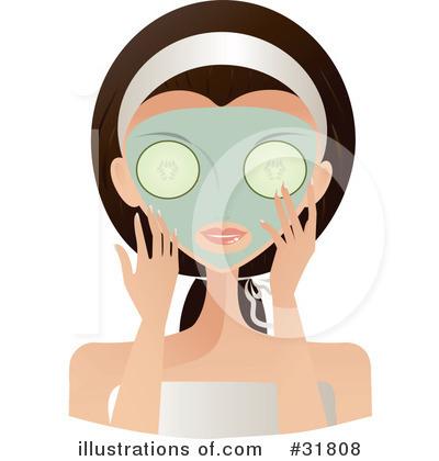 Illustration by melisende vector. Beauty clipart skin