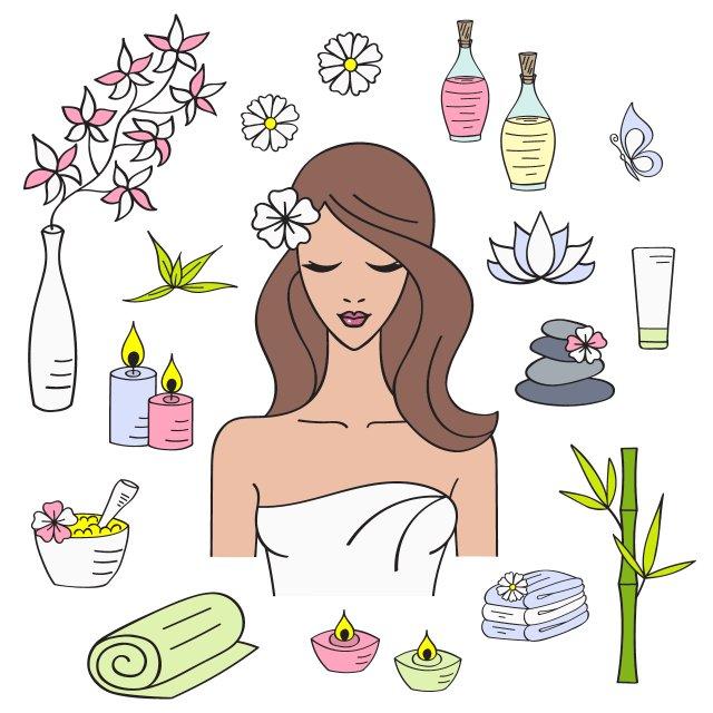 Beauty clipart skin. Treatments for wedding ready