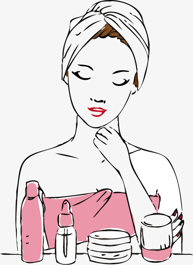 Beauty clipart skin. Care png vectors psd