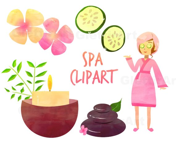 Girl for personal and. Beauty clipart spa