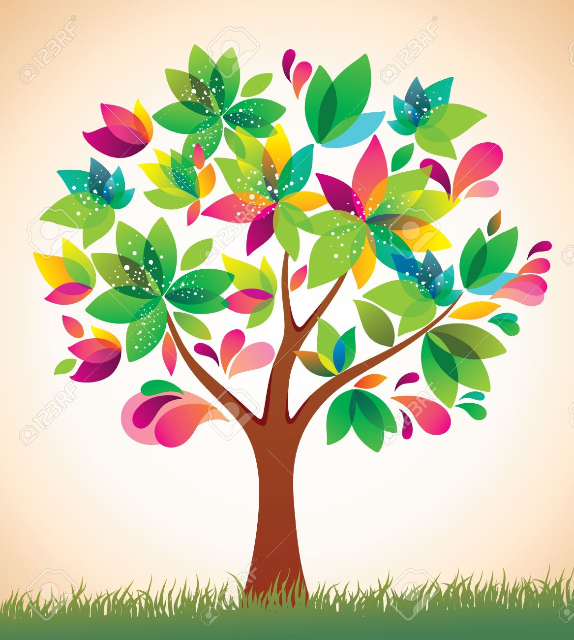 Beautiful tree . Beauty clipart spring