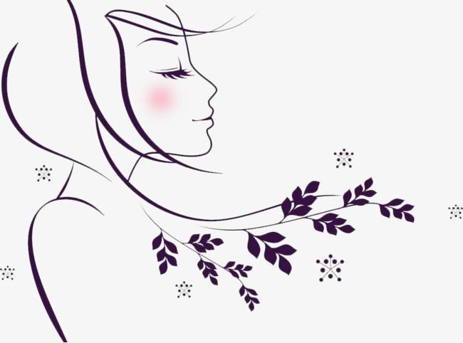 Silhouette girl png image. Beauty clipart spring