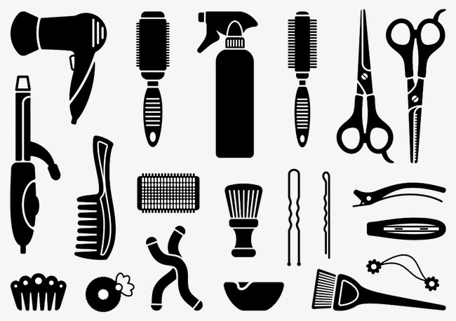 Hairdressing icon design image. Beauty clipart tool