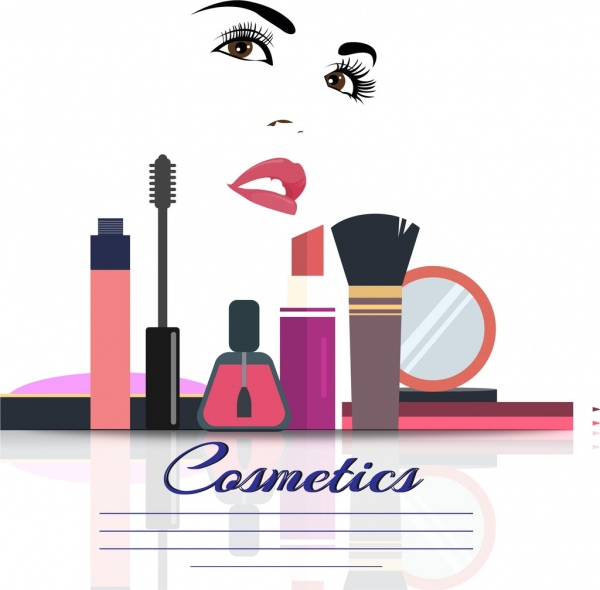 Cosmetics free vector download. Beauty clipart tool