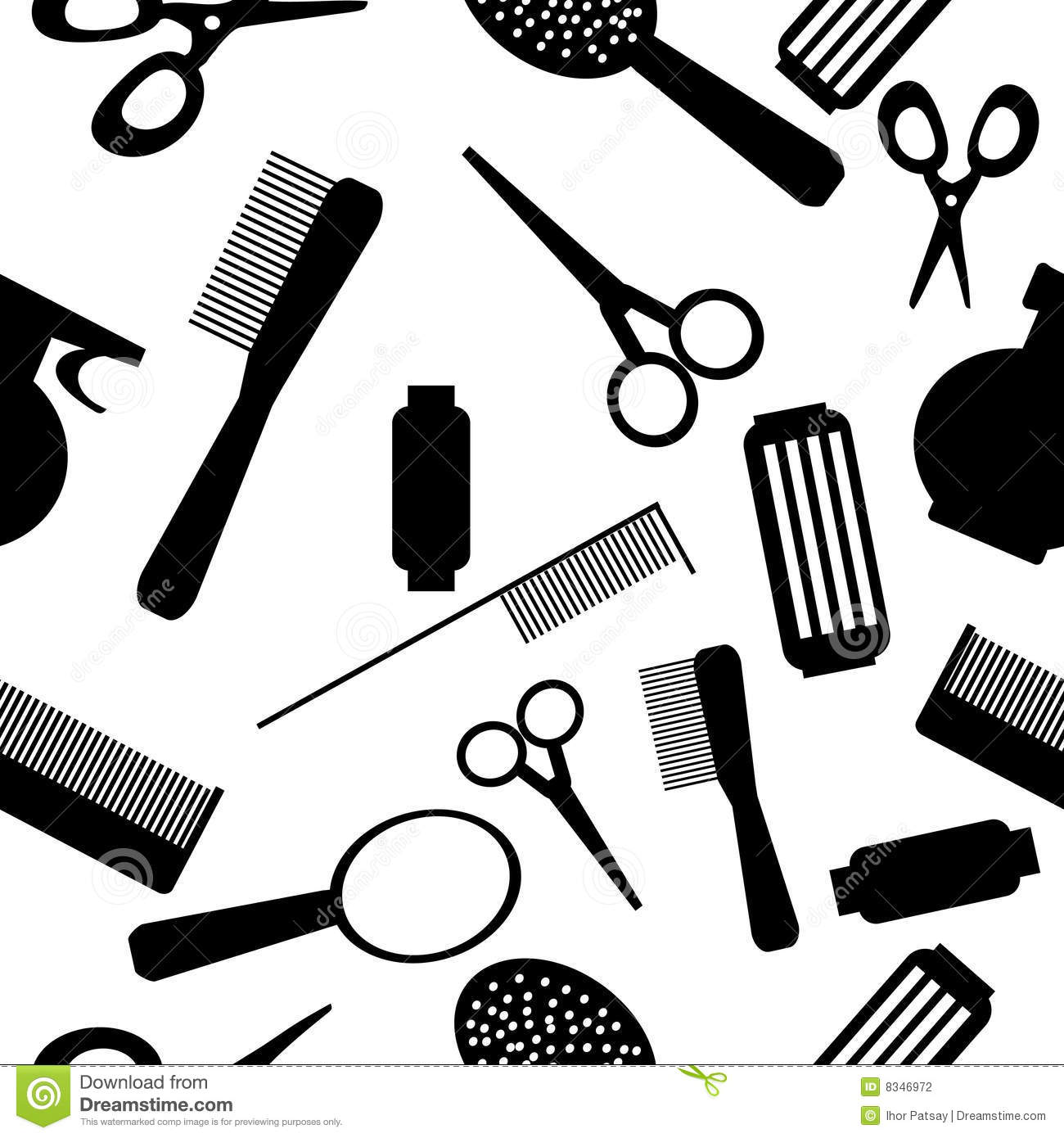 Salon tools . Beauty clipart tool