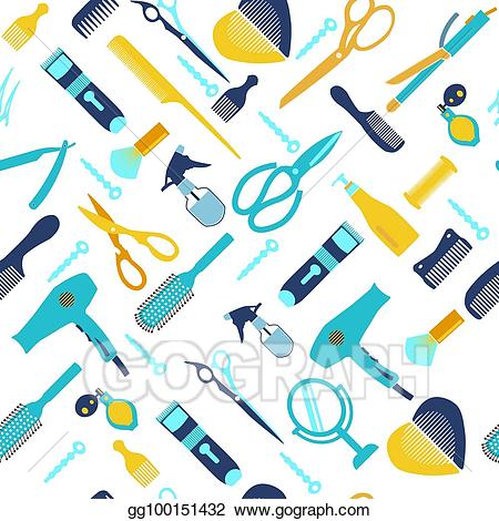 Beauty clipart tool. Vector art background collection