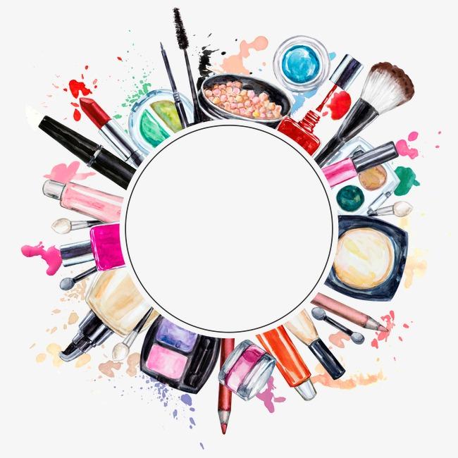 Creative makeup tools make. Beauty clipart tool