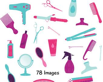 Beauty clipart tool. Haircut clip art etsy
