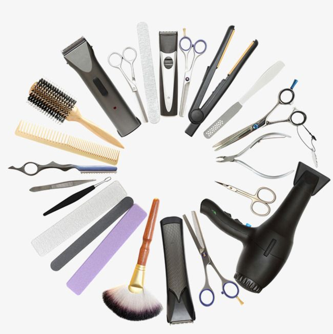Beauty clipart tool. Tools salons