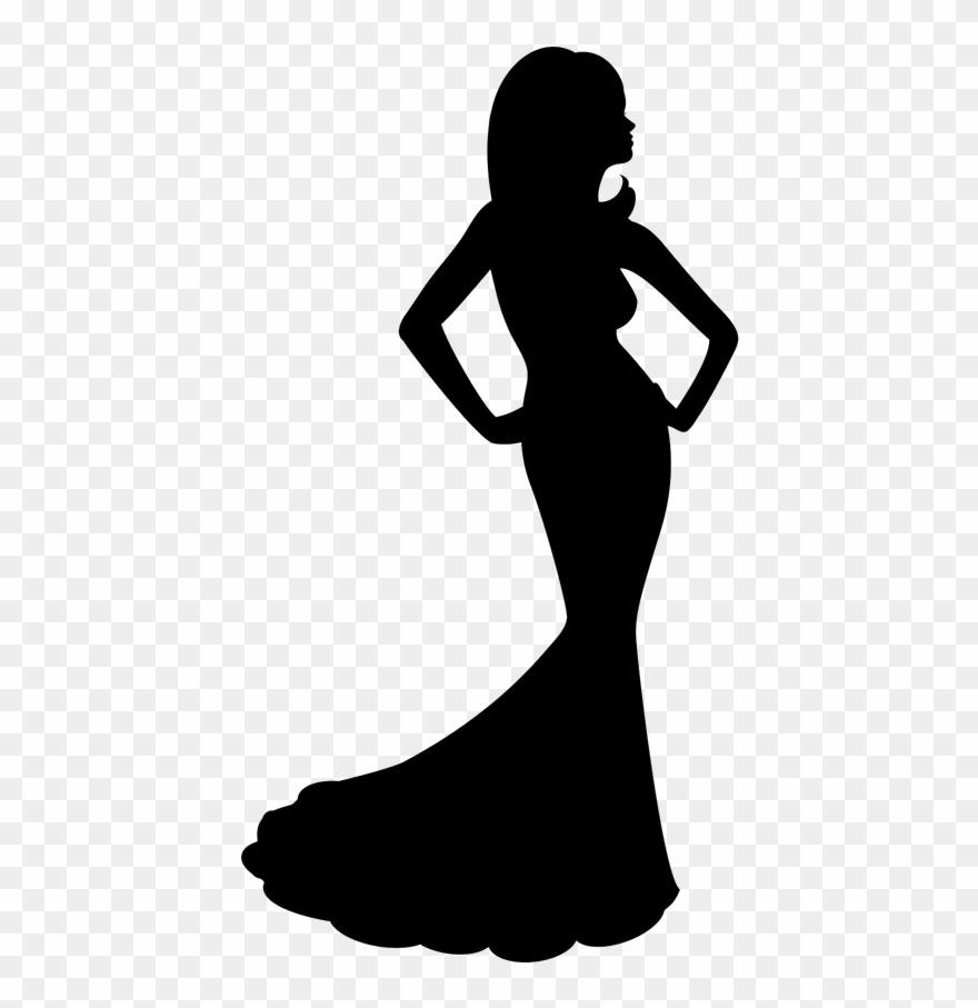 Queen clipart silhouette. Pageant girl cliparts beauty