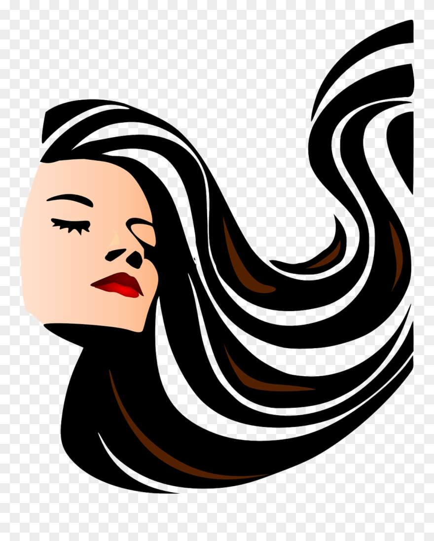 Hair clipart woman's hair. Woman girl brunette beauty