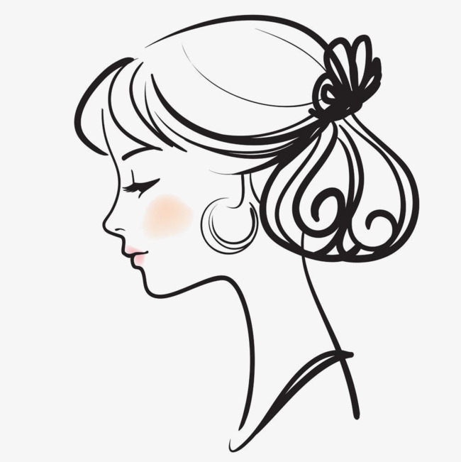 Salon hairdressing png image. Beauty clipart vector