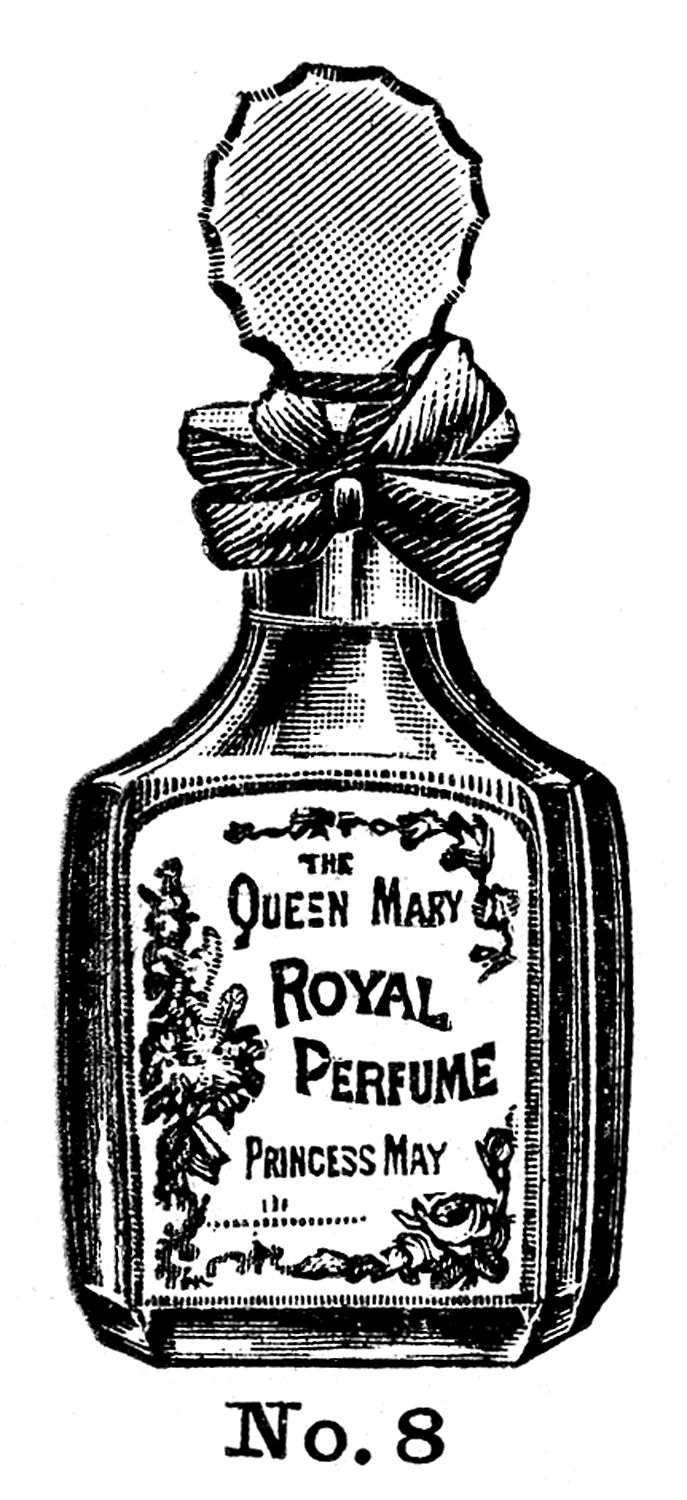 Beauty clipart vintage beauty.  old fashioned perfume