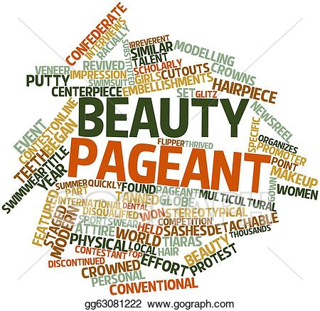 Stock illustration pageant gg. Beauty clipart word