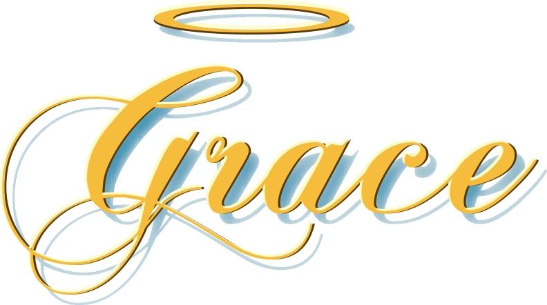 Grace words . Beauty clipart word