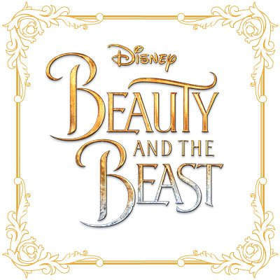 Beauty clipart word. And the beast on