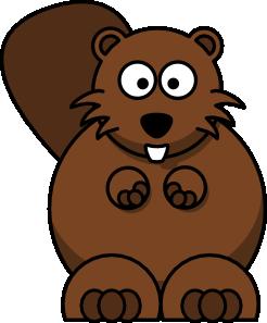 Beaver clipart animated. Cartoon clip art at