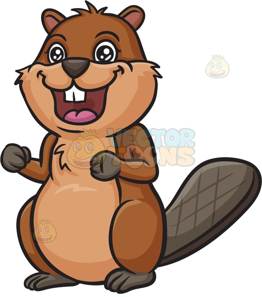 Beaver clipart animated. Eager a brown with