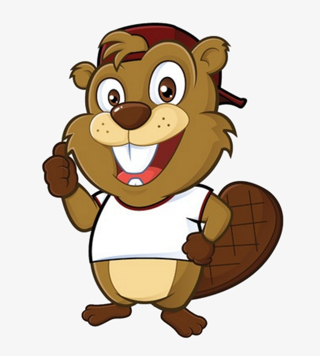 Smiling lovely png image. Beaver clipart animated