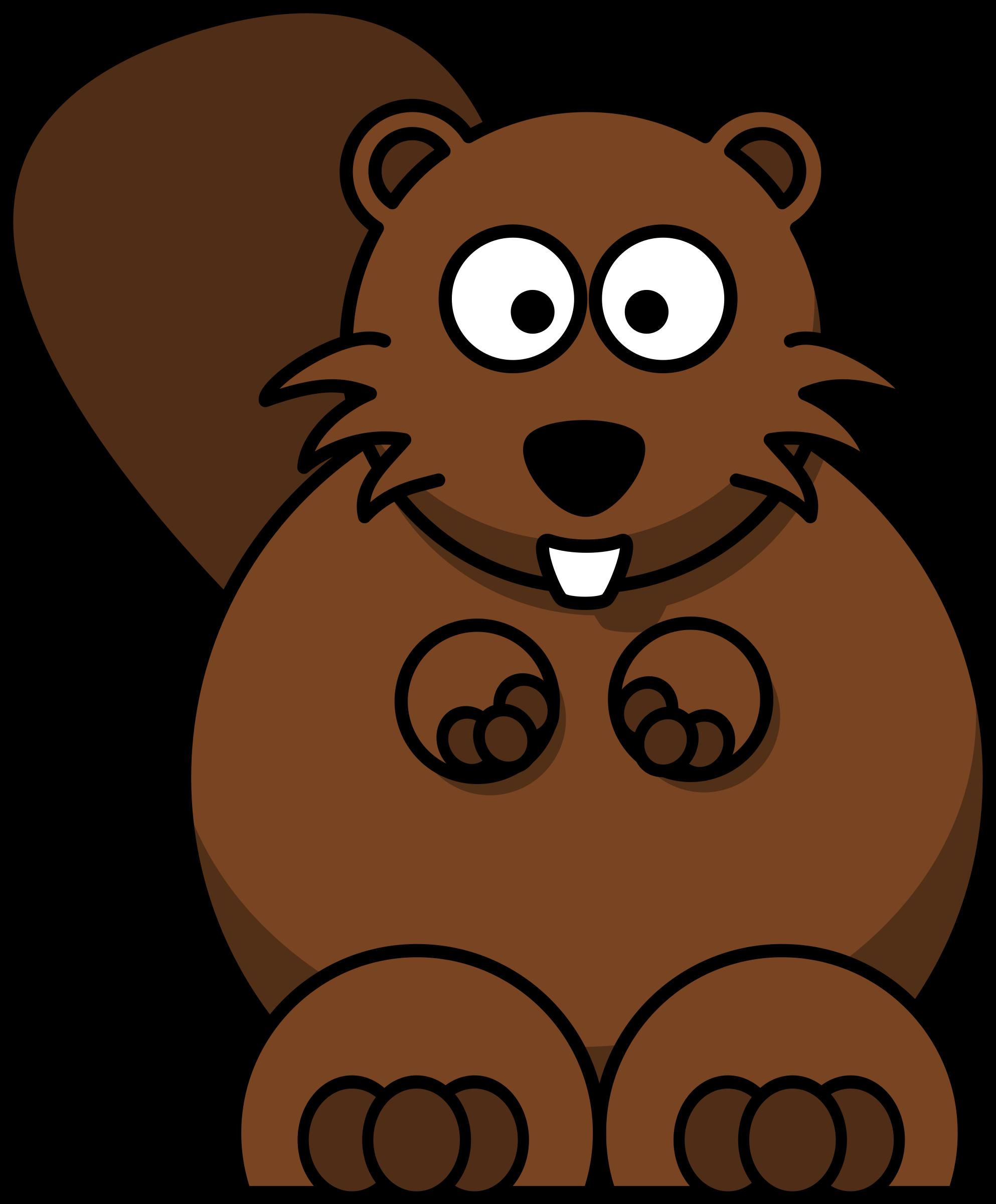 Cartoon beaver big image. Groundhog clipart transparent
