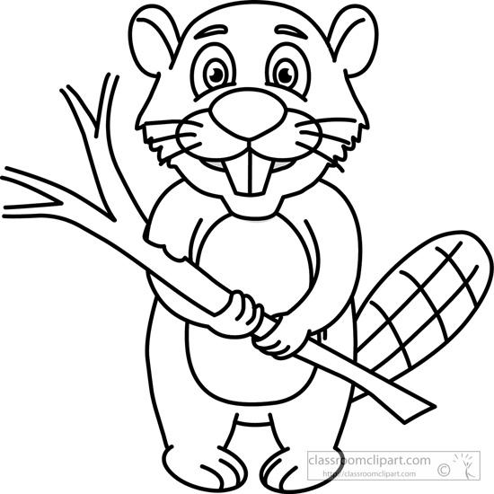 Beaver black and white
