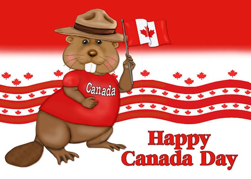 Beaver clipart canada july. Wishing you happy day
