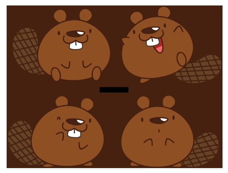 Chibi beaver by daieny. Groundhog clipart kawaii